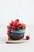 Fresh berries in bowls