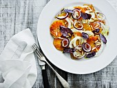 Orange and fennel salad with pine nuts