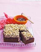 Chocolate, banana and almond cake