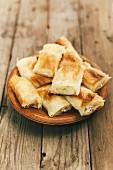 Banitza (stuffed puff pastries, Bulgaria)