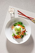 Rice noodle salad with vegetables (Asia)