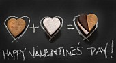 Smores with a chalk drawing for Valentine's Day