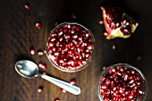 Greek yoghurt with pomegranate seeds