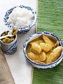 Green chicken curry with rice (Thailand)