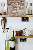 Upcycling: scrabble tiles stuck to magnets used as DIY noticeboard in kitchen