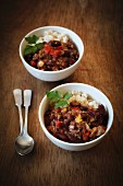 Vegan chilli sin carne