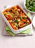 Sausages and guinness stew with cheesy dumplings