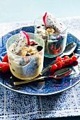 Yoghurt dessert with pitahaya