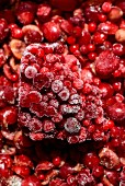 Frozen red fruits