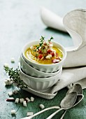 Pumpkin soup with apples and thyme