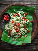 Papaya salad with cherry tomatoes and peanuts (Thailand)