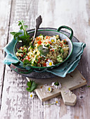 Tabbouleh with wild herbs