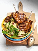 Moroccan lamb chops with couscous and mint