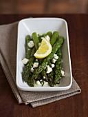 Green asparagus salad with Knockalara sheep's cheese and lemon