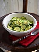 Courgette salad with lemon