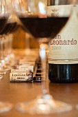 Der Rotwein San Leonardo der Tenuta San Leonardo, Borghetto, Italien