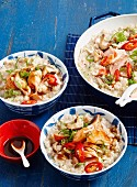 Asian-style baked salmon risotto
