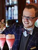 Arnd Henning Heissen, chef and bar keeper at the Hotel Ritz Carlton