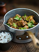 Indian lamb ragout with cashew nuts