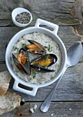 Mussel risotto