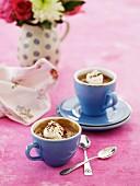 Affogato in espresso cups