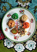 Oriental sweet pastries for teatime