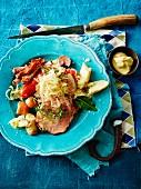 Choucroute Garnie (Alsatian sauerkraut with meat)