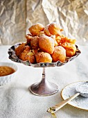Bunelos (deep-fried Spanish Christmas pastries)