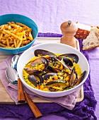 Französische Muschelsuppe