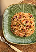 Quinoa salad with cranberries