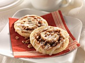 Iced cranberry cookies