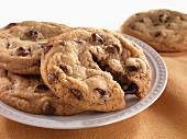 Vier Chocolatchip Cookies