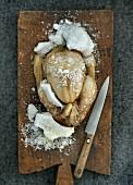 Chicken with a salt crust (China)