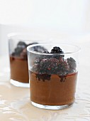 Two Glasses of Raw Chocolate Mousse