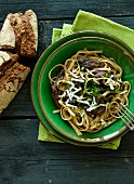 Pulled beef with pasta and cheese