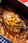 Larded roast beef