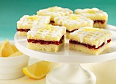 Lemon slices with raspberry jam