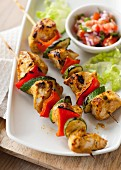Turkey curry skewers