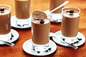 Glasses of coffee mousse