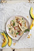Pumpkin and sage ravioli with bacon better