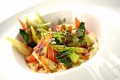 Stir-fried vegetables with teriyaki sauce (Asia)