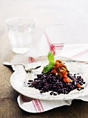 Black rice with tomato salsa