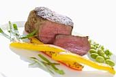 Black Angus fillet steak with vegetables