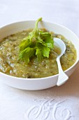 Celery and courgette soup