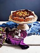 Dattel, Walnuss und Schokoladentorte