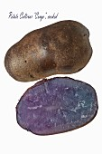 A Blue Congo potato (cooked)