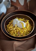 Kedgeree with a poached egg