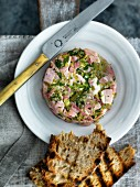 Ham terrine with grilled bread