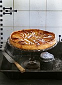 Apple tart with icing sugar