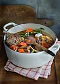 Navarin (lamb stew with vegetables, France)